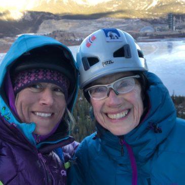 Climbing with  Sarah Hueniken – CANADA!